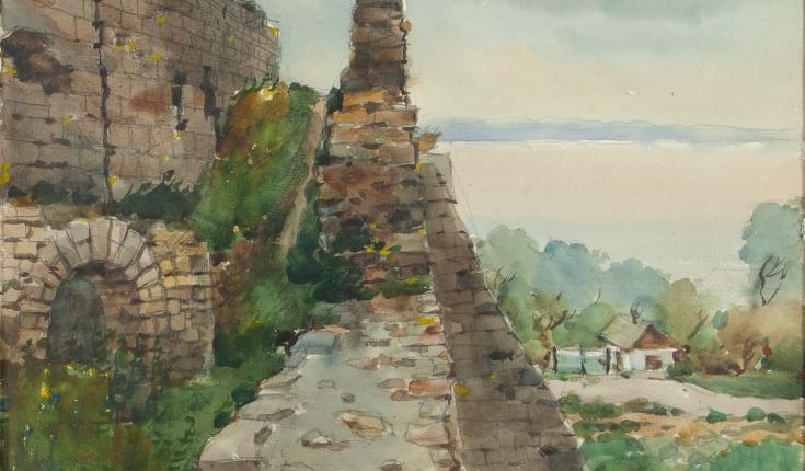 Кам'янець-Подільський, 35,х47,5 папір/акварель