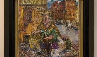 Давід Бурлюк. Бабця. 1950-ті. Полотно, олія. 23х23,5 см
