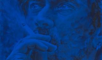 Юрій Ермоленко. Я і Давидофф. 2012. Полотно, авторська техніка. 90х80 см